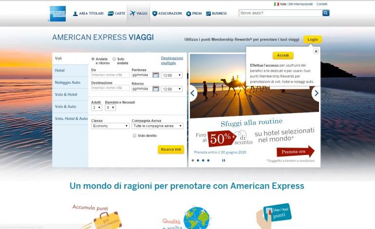 American Express diventa un'agenzia di viaggio