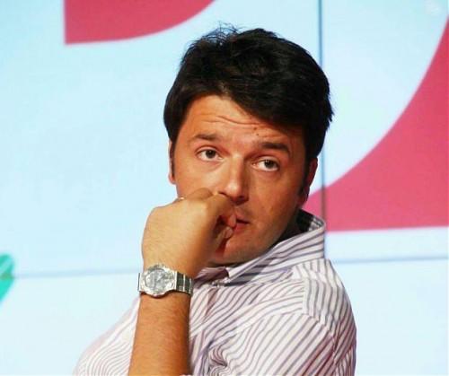 Matteo Renzi con un Rolex al polso