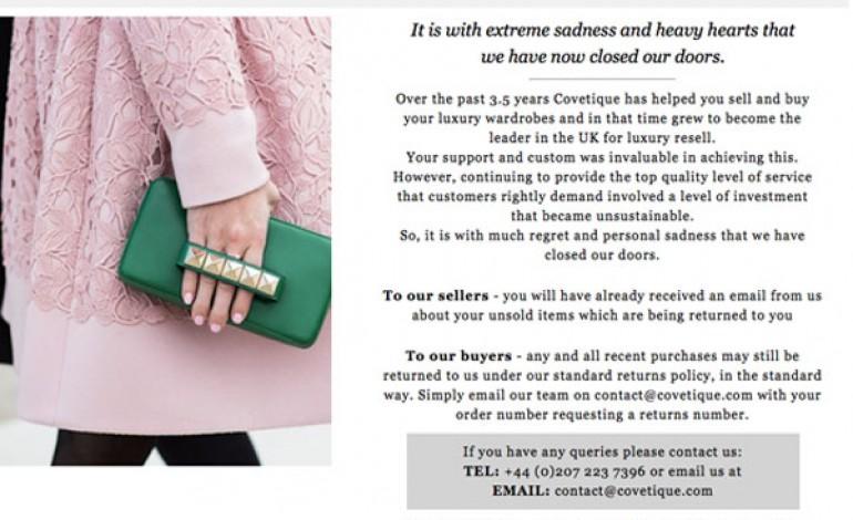 Chiude l'e-store Covetique (usato di lusso)