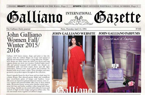 John Galliano - Sito web