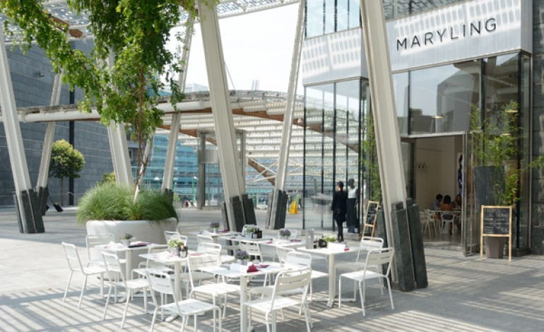 Maryling, opening in piazza Gae Aulenti