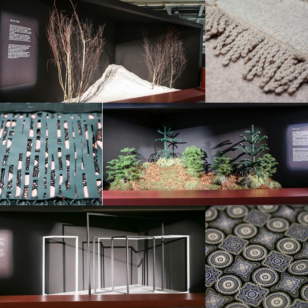 Installazioni e tessuti a Milano Unica.