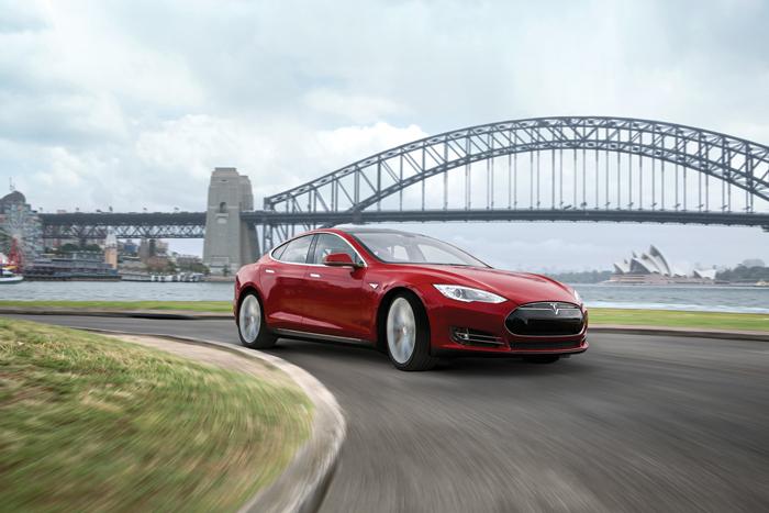 L'automobile Model S di Tesla Motors.