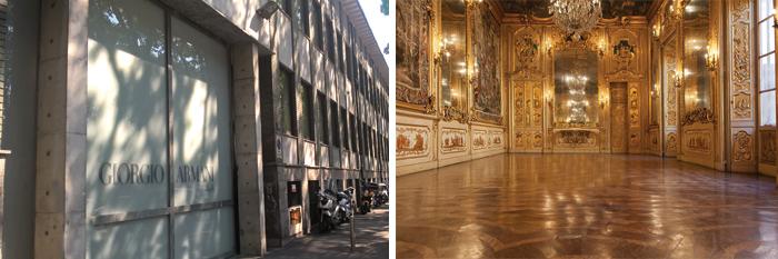 Giorgio Armani in via Bergognone, Palazzo Clerici