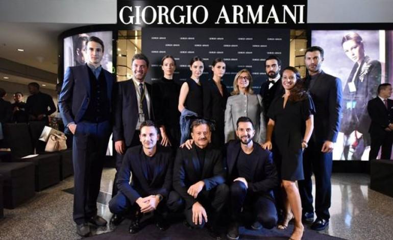 Live show Armani in aeroporto