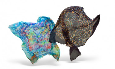Etro, foulard d'arte con stilista cinese