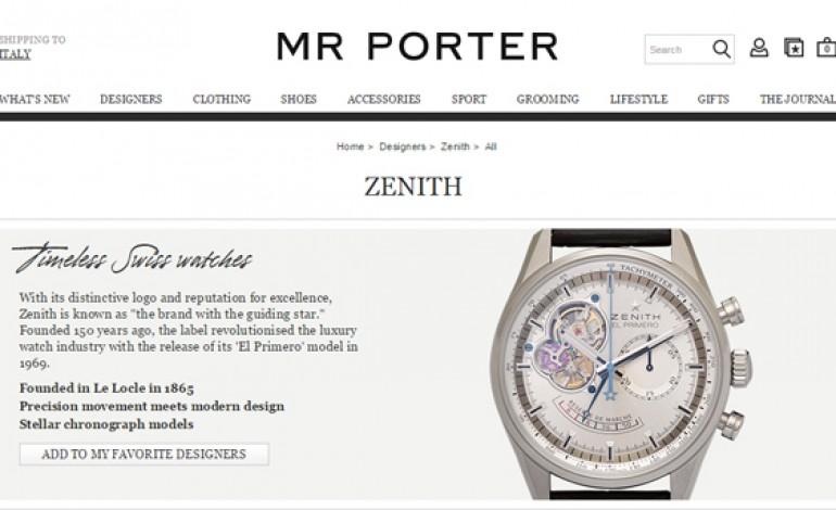 L'orologeria svizzera sbanca Mr Porter