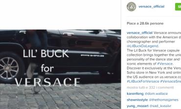 Versace, prima capsule su Instagram
