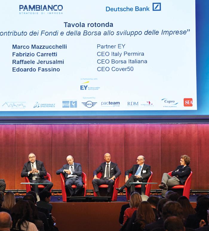 Da sinistra Raffaele Jerusalmi, Marco Mazzucchelli, Carlo Pambianco ed Edoardo Fassino.