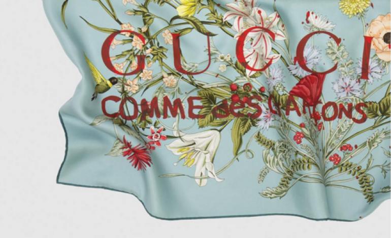 Gucci, foulard con Comme des Garçons