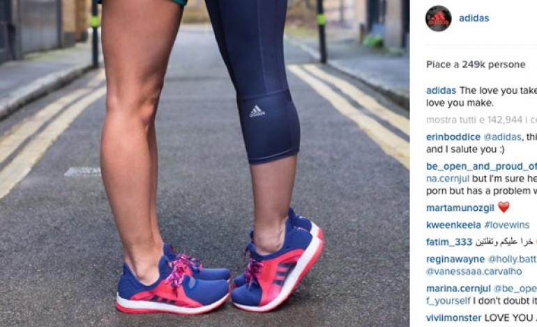 Adidas fa outing su Instagram