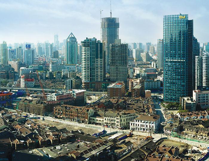 Vista panoramica di Shanghai