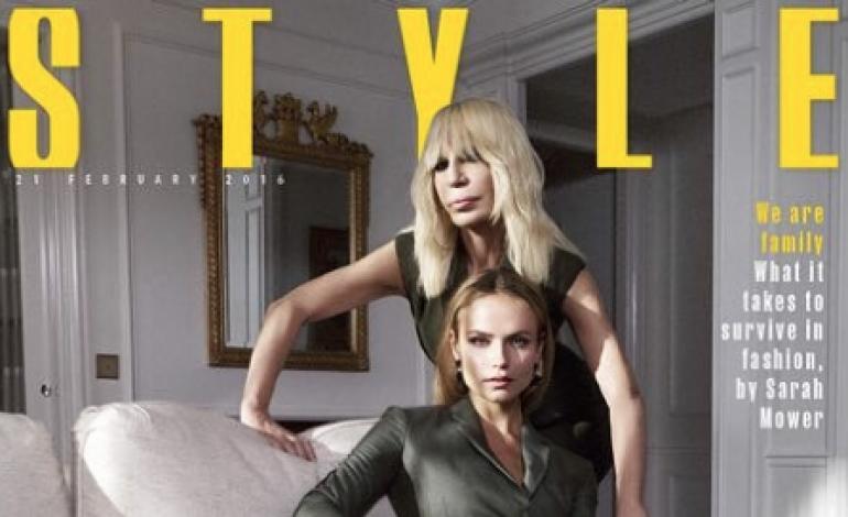 Donatella Versace redattrice per il Times