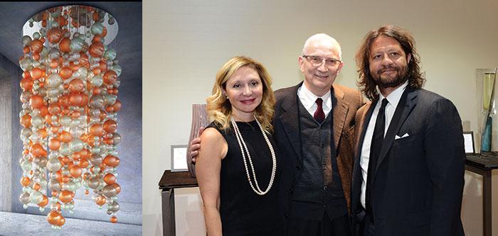 Lampadario Balloton; Silvia Damiani, Giancarlo Chimento e Guido Damiani