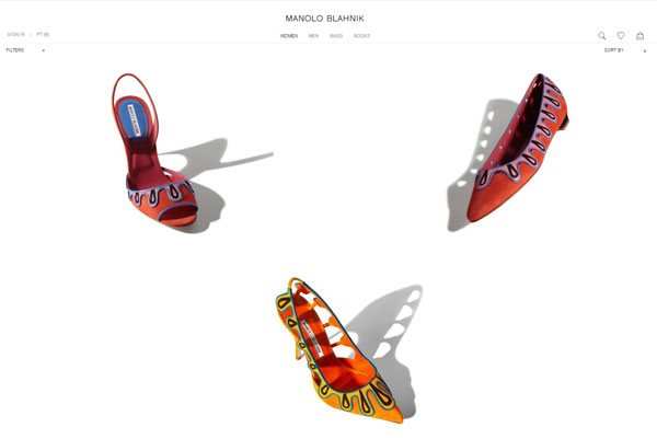 Manolo Blahnik, e-commerce con Farfetch