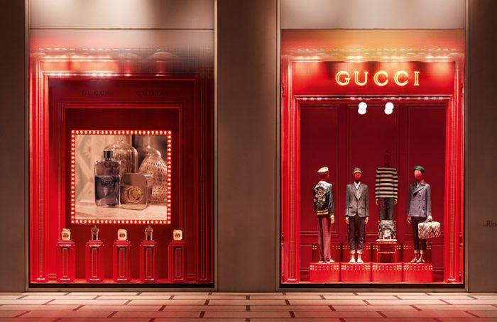 Vetrine Gucci, La Rinascente Milano