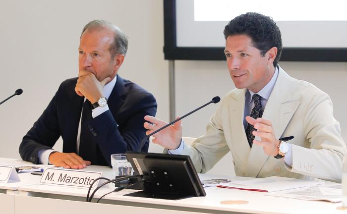 Corrado Facco, direttore generale di Fiera di Vicenza., e Matteo Marzotto, presidente di Fiera di Vicenza