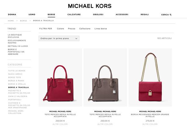 Michael Kors apre l'e-commerce all'Italia