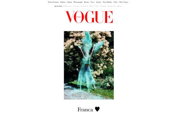 L'home page di Vogue Italia