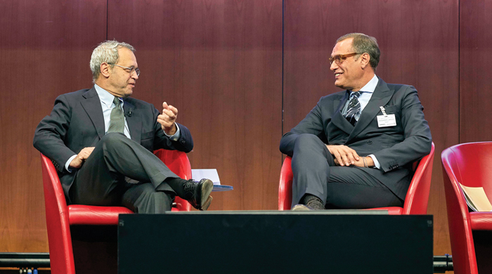 Enrico Mentana e Alessandro Varisco
