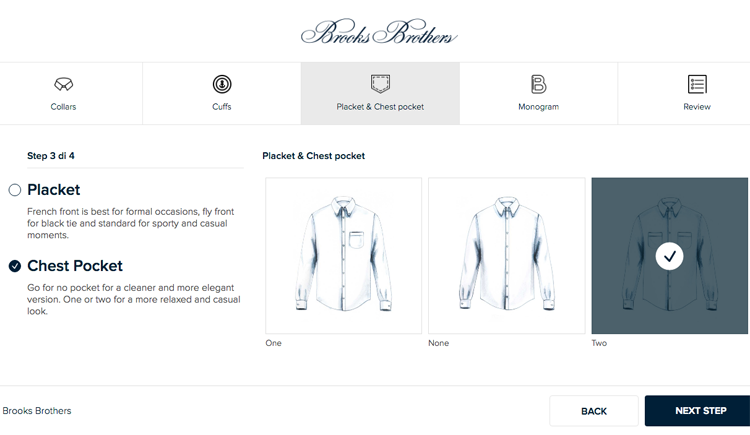 Brooks Brothers introduce il made to measure online