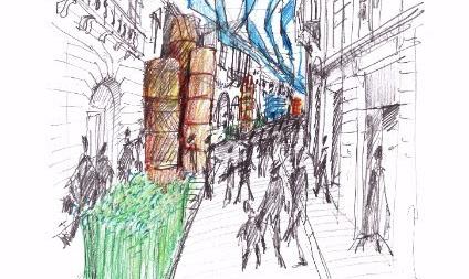 Via Montenapoleone celebra il Lino