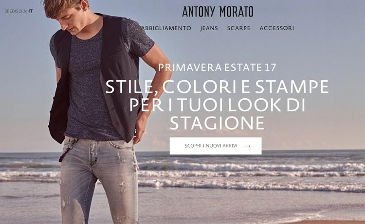 Antony Morato rilancia il suo sito web