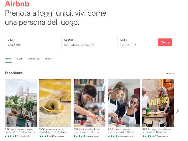 Airbnb studia la sezione lusso