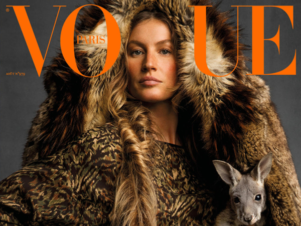 Vogue Paris in copertina dice no alle pellicce