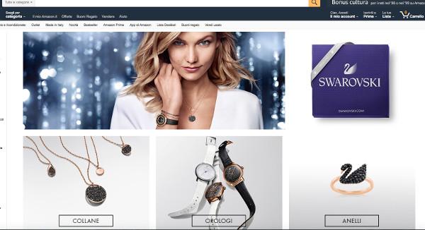 Swarovski arriva anche su Amazon Fashion
