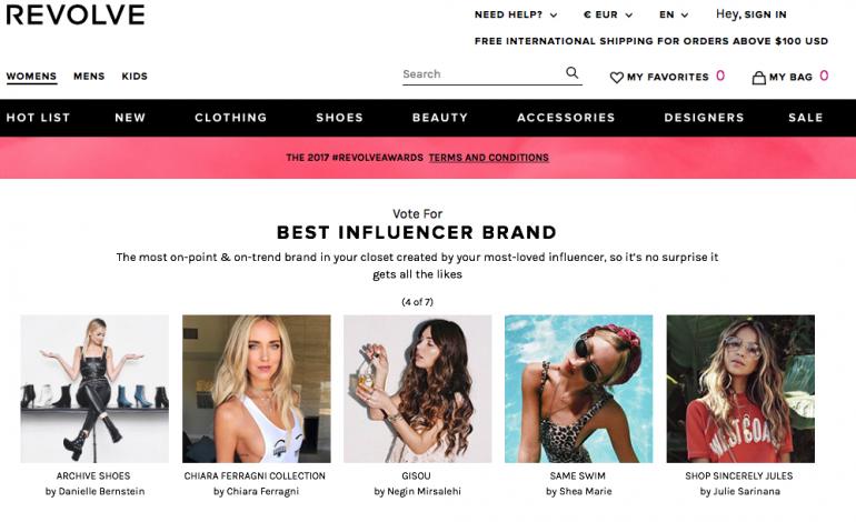 Revolve lancia gli Awards per gli influencer