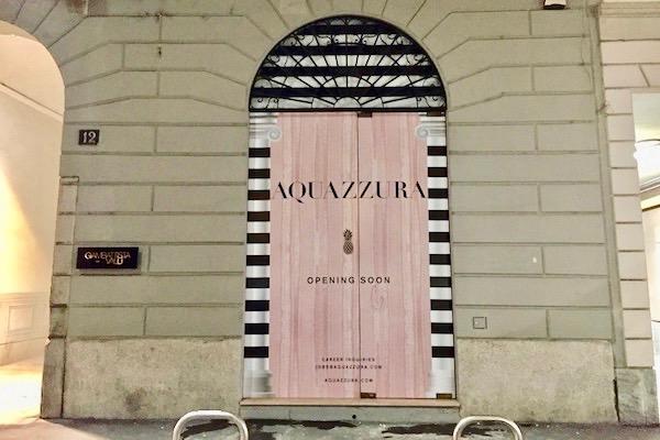 Aquazzura apre il primo monomarca a Milano
