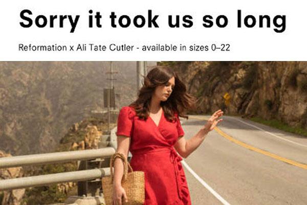 """Reformation: """"Sorry, ora vestitini sexy anche XL"""""""