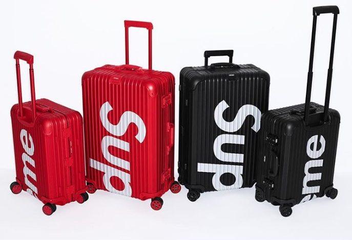 Supreme lancia le valigie con Rimowa