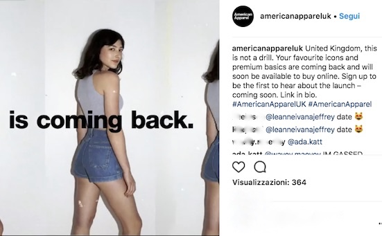 American Apparel … a volte ritornano solo online