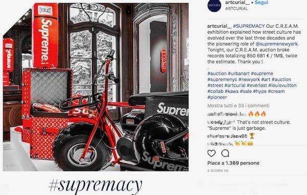 Supreme va 'all'asta' e porta a casa 850 mln
