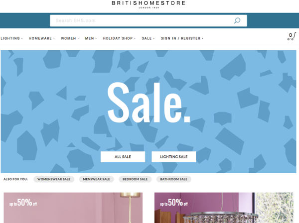 Bhs chiude anche il business online
