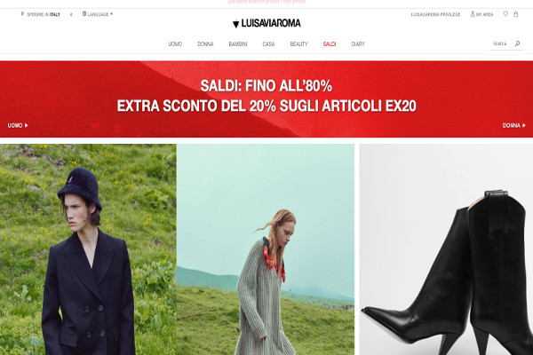 Luisaviaroma, 2017 a 130 mln (il 95% dal web)