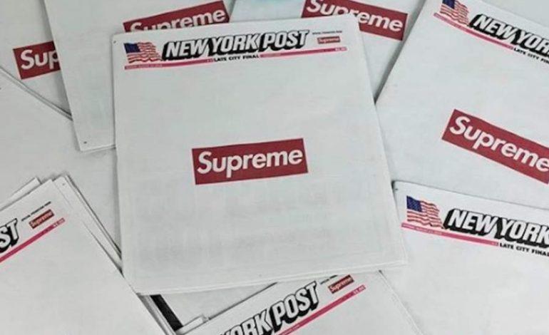 Supreme firma il Ny Post. E il giornale diventa cult