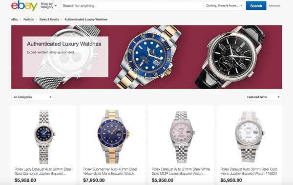 Ebay adesso autentica anche gli orologi di lusso