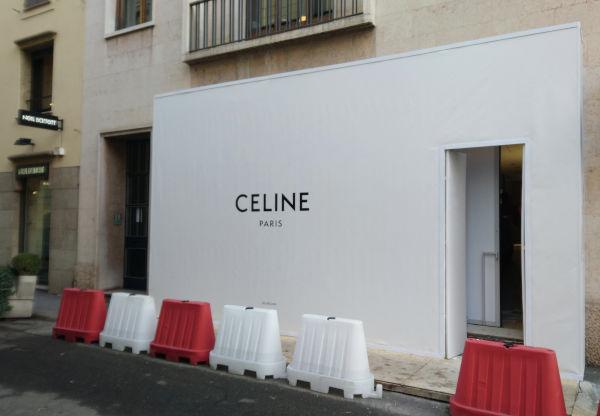 Celine, store dedicato all'uomo a Milano