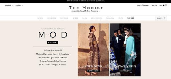 Addio all'e-commerce The Modist