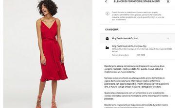 H&M vuole la trasparenza per tutti i prodotti