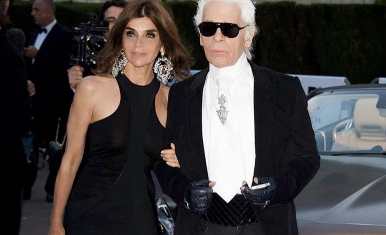 Carine Roitfeld entra da Karl Lagerfeld