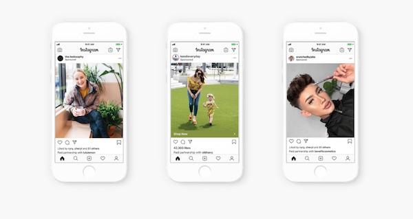 Instagram spinge sulle adv degli influencer