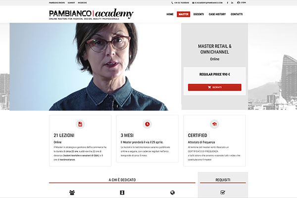 Pambianco Academy, Master a tutto digital