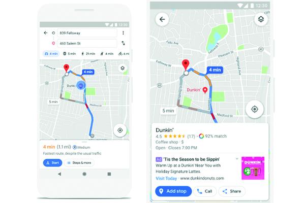 Google potenzia mappe che portano agli store fisici