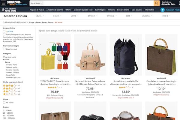 Su Amazon Fashion vince il 'no brand'