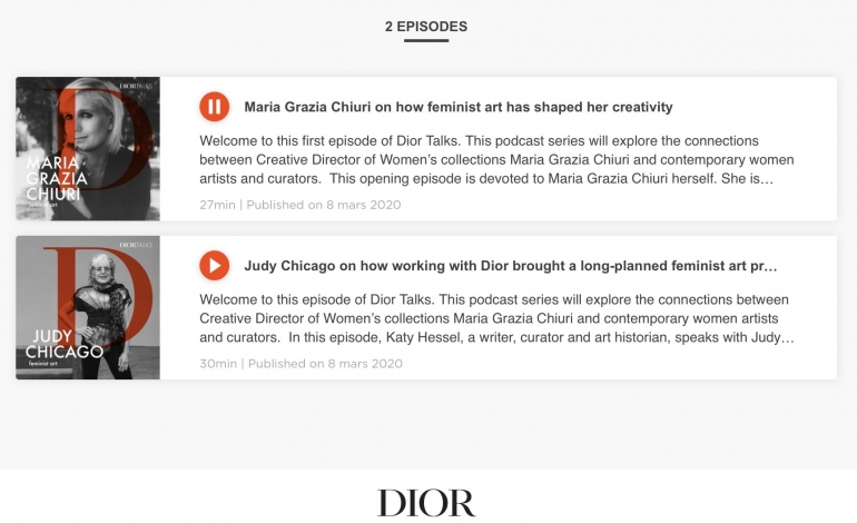 I brand ti parlano: anche Dior sperimenta il podcast