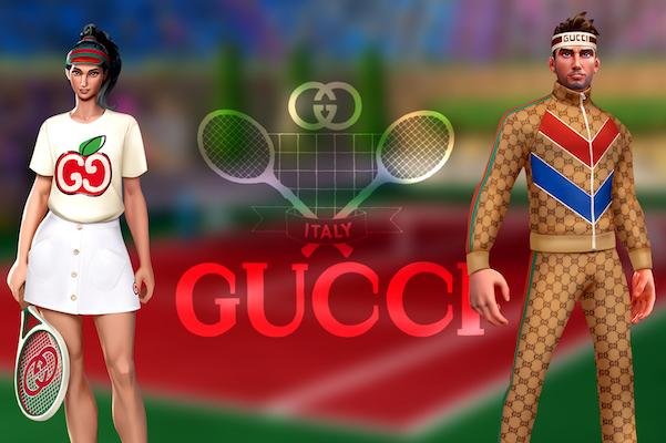 Febbre videogame, Gucci si allea con Tennis Clash